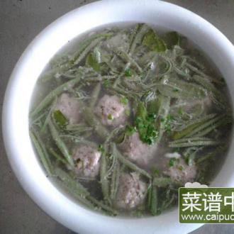 肉圆莼菜汤