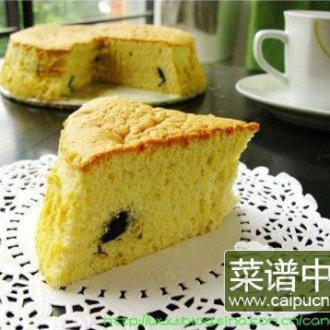 黑加仑戚风蛋糕
