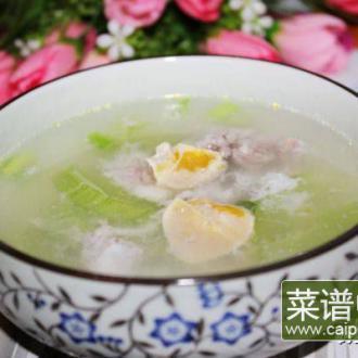 咸蛋白瓜汤