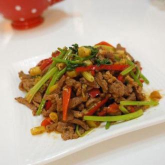 野山椒炒羊肉