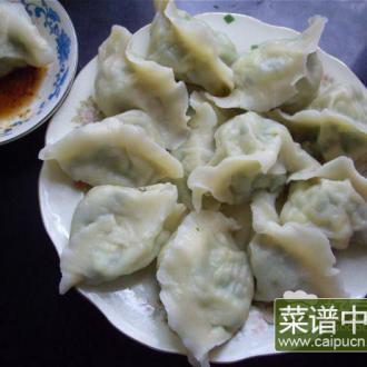 白瓜鸡蛋虾皮水饺