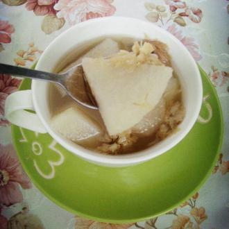 雪梨菊花茶