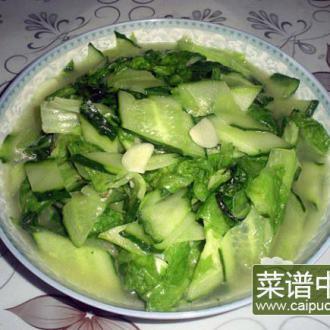清炒瓜片圆生菜