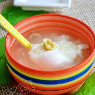 菊花酒酿鸡蛋