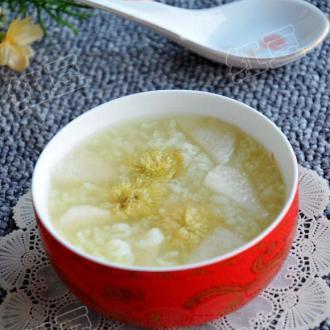 菊花鸭梨粥