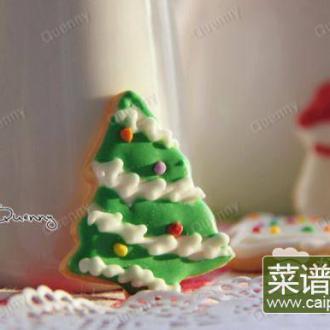 圣诞树糖霜饼干