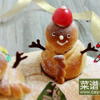 圣诞雪人面包