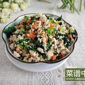 芹菜叶子刨豆腐