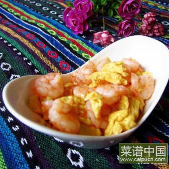 虾籽虾仁炒鸡蛋