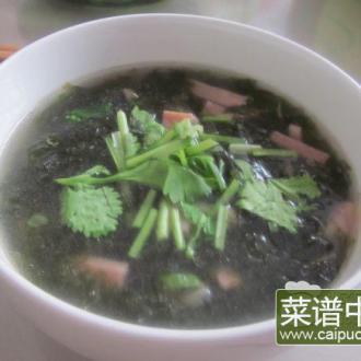 香肠紫菜汤
