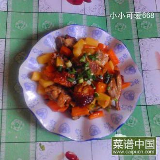 土豆胡萝卜焖烧鸭