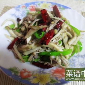双椒炒双菇
