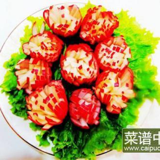 糖醋樱桃小萝卜花