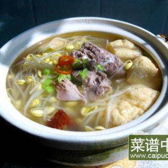 油豆腐豆芽烧鸭汤