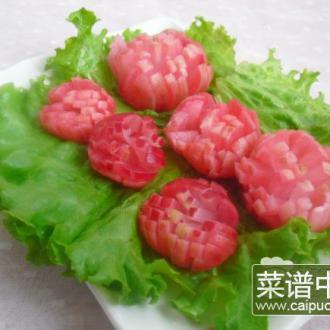 糖醋樱桃萝卜花