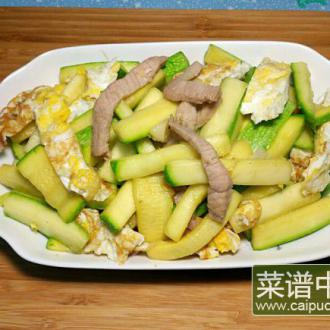 西葫芦肉丝炒蛋