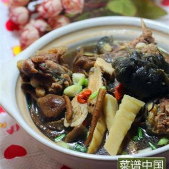 茶树菇甲鱼煲
