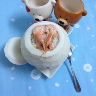 大虾椰子饭