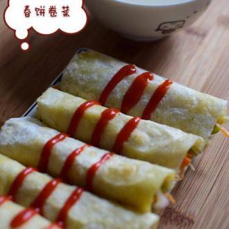 荷叶饼卷菜