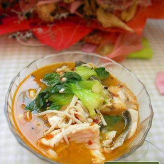 蔬菜烩鱼片