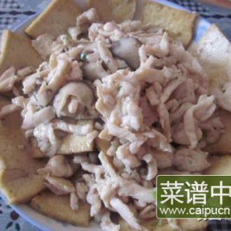 鸡肉丝炒油豆腐