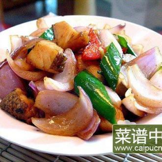 洋葱辣椒焗银鳕鱼