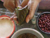 高粱米红枣粽子的做法步骤16