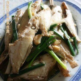 沙茶豆豉炒剥皮鱼