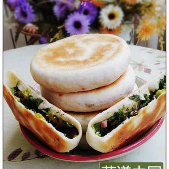 芹菜叶玉米粒馅饼