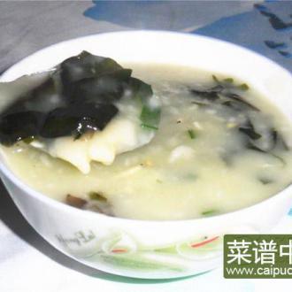 虾皮裙带菜粥