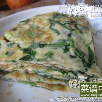 【菠菜虾茸饼】