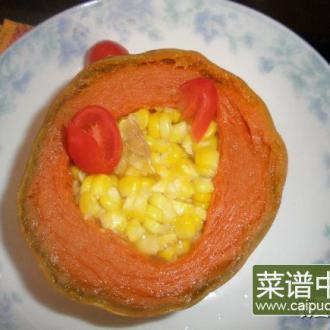 玉米蒸金瓜