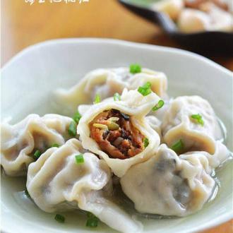 香菇干豆角大肉饺子
