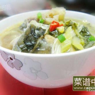 黄花菜鱼骨煮酸菜