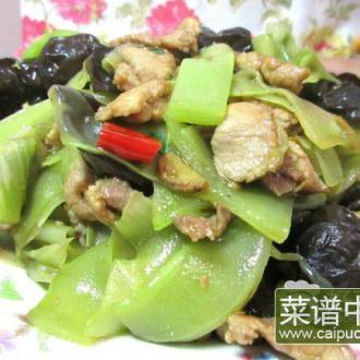 青笋木耳肉片