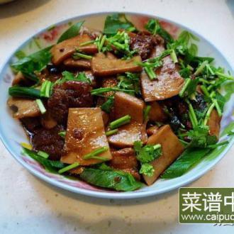 酱炒鸡腿菇