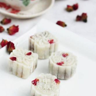 玫瑰冰皮月饼