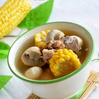 口蘑玉米排骨汤