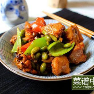 辣椒毛豆烧鸡翅