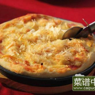 木鱼花虾仁披萨