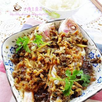 梅菜蒸红衫鱼