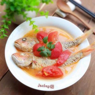 番茄红衫鱼汤