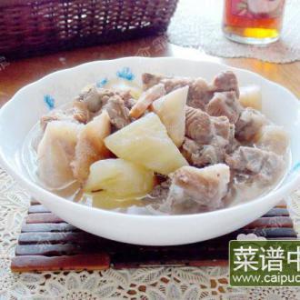 土茯苓雪梨果排骨汤