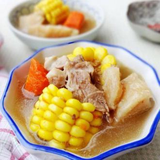 粉葛玉米龙骨汤