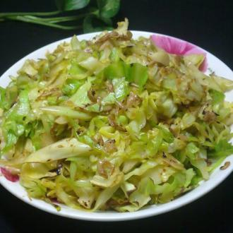 虾米皮炒圆白菜