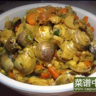 咖喱海鲜焖饭