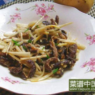 素炒脆鳝笋丝