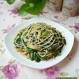 掐菜炒韭菜