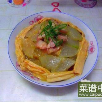 冬瓜支竹焖肉