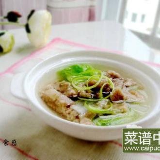 白菜滑肉汤